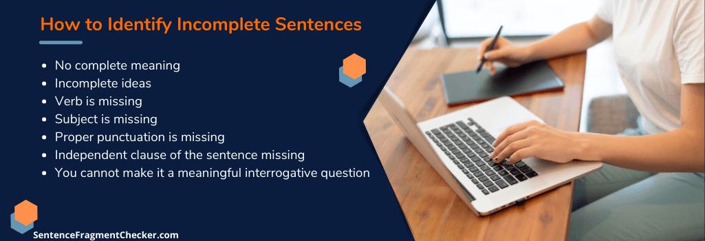 how do i check for incomplete sentences