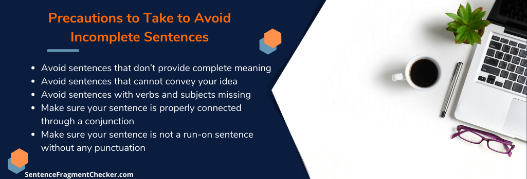 how to detect incomplete sentences and avoid them