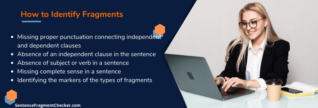 how to identify and fix sentence fragment online